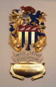 Arms of the Prime Warden of the Worshipful Company of Fishmongers. Limewood and Polychrome